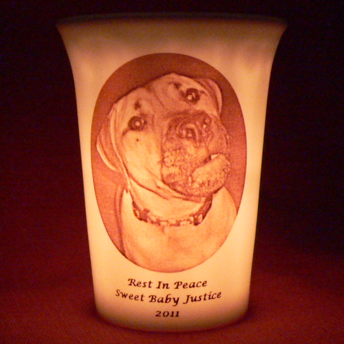 Memorial Pet Loss Products-Mourninglights™ memorial candleholders