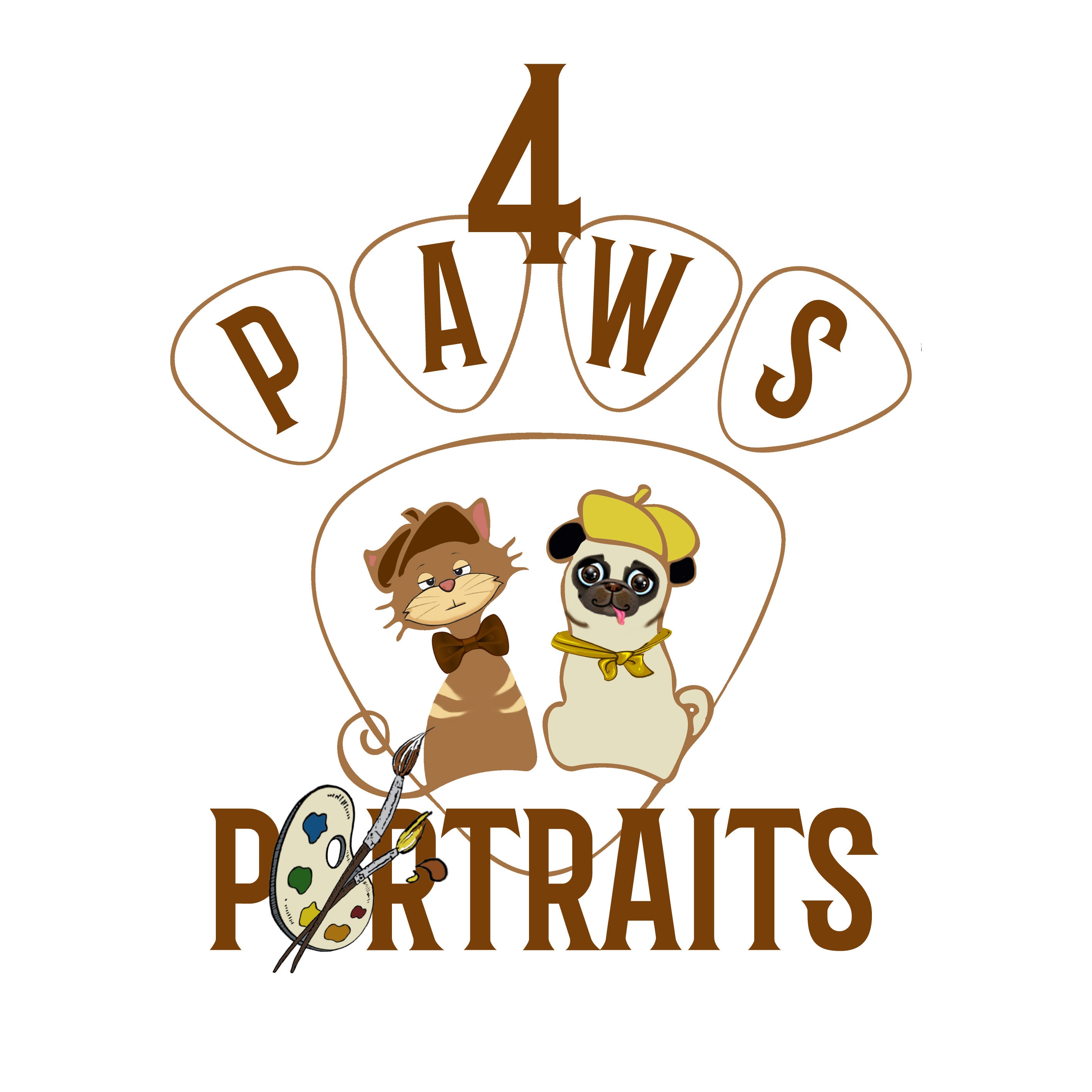 Memorial Pet Loss Products-4 Paws Portraits