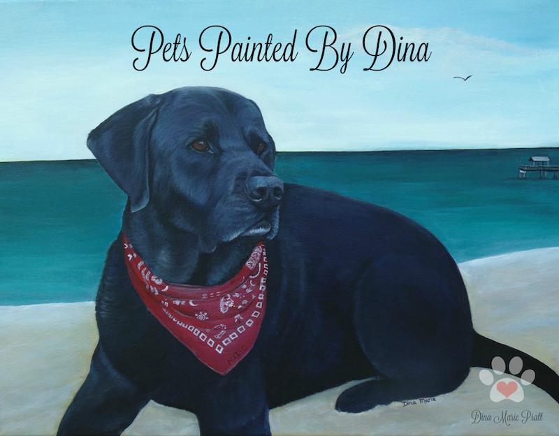 Memorial Pet Loss Products-Pets Painted By Dina