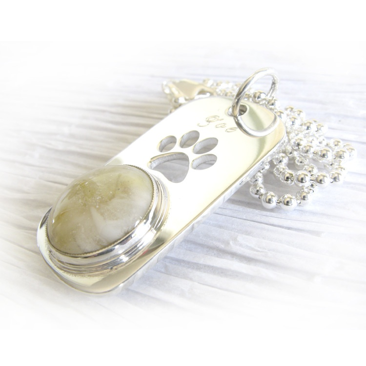 Locked in Art36-1656Dog Paw Print Dog Tag  Engraved Sterling Silver (6).jpg569