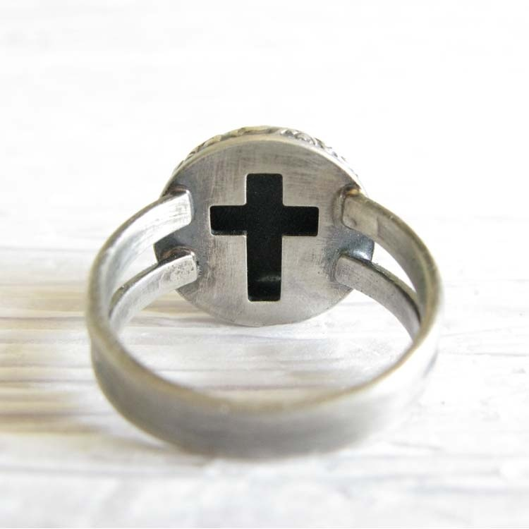 Locked in Art36-4733Miracle ~ Glass cremation ring sterling silver jewelry with cross (18).jpg578